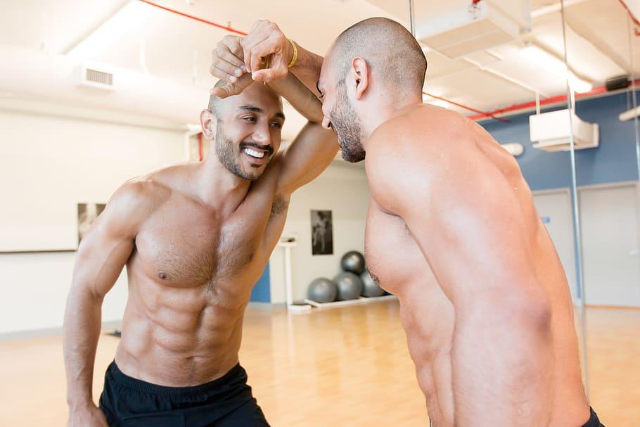 man boob exercises